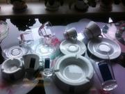 Итальянская посуда стаканы чашечки блюдца салфетница